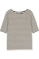 Mih Jeans Breton Striped Cotton Top Black