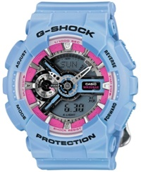 G Shock Women's Analog Digital Floral Blue Resin Strap Watch 49X46mm Gmas110f 2A