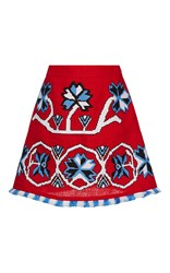 March11 Red Aliona Mini Skirt