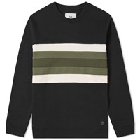 Folk Panel Sweat Black