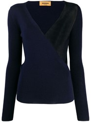 Missoni Wrap Style Front Jumper Blue