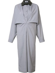 J.W.Anderson Gathered Shirt Dress Blue
