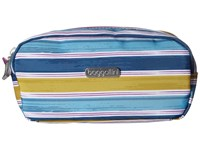 Baggallini Square Cosmetic Case Tropical Stripe Cosmetic Case Navy