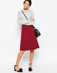 Traffic People A Line Skirt In Quilted Fabric Red