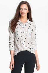 Equipment Women's 'Starry Night' Silk Shirt Bright White Black
