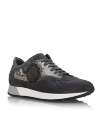 Billionaire Reptile Print Sneakers Male Grey