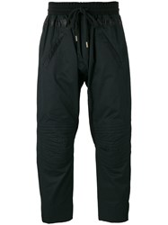 Amen Quilted Knees Track Pants Black