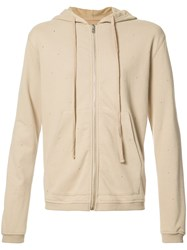 Stampd Embroidered Detail Hoodie Nude Neutrals