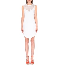 Karen Millen Graphic Tribal Cutwork Woven Dress White