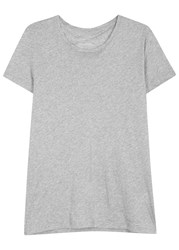 J. Lindeberg Cody Grey Melange Cotton T Shirt