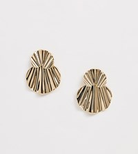 Monki Irregular Stud Earrings In Gold