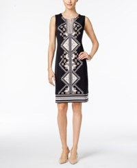 Jm Collection Studded Shift Dress Only At Macy's Black Geo Standard