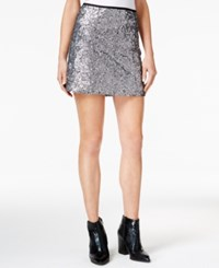 Sanctuary Leila Sequin Mini Skirt Gunmetal
