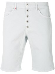 Dondup Fitted Denim Shorts Blue