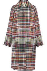 Goen.J Woman Tweed Coat Multicolor
