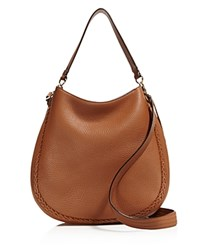 Rebecca Minkoff Unlined Whipstitch Convertible Hobo Almond Gold