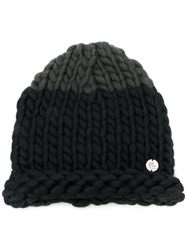 Lost And Found Ria Dunn Knitted Beanie Men Nylon Wool One Size Black