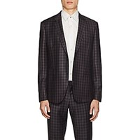 Paul Smith Kensington Checked Wool Two Button Suit Purple