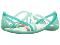 Crocs Isabella Cut Graphic Strappy Sandal New Mint Oyster Women's Shoes Green