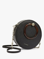 Ted Baker Acantha Leather Circle Cross Body Bag Black