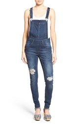 Women's Cheap Monday Distressed Skinny Overalls