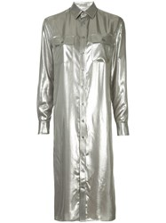 Ralph Lauren Collection Straight Metallic Shirt Dress