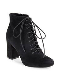 424 Fifth Gianetta Suede Lace Up Ankle Boots Black