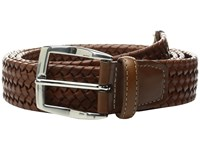 Torino Leather Co. 35Mm Italian Woven Stretch Cognac Men's Belts Tan