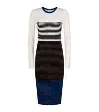 Escada Sport Tri Colour Ribbed Knit Dress Female Multi