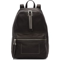 Rick Owens Black Leather Classic Backpack