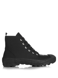 Burberry Rubberised Leather Boots Black