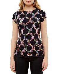 Ted Baker Lost Garden Fitted Tee Black