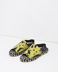 Proenza Schouler Leather Slingback Espadrille Yellow