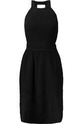 M Missoni Cutout Stretch Cloque Dress Black