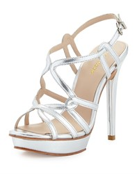 Pelle Moda Flirty Strappy Leather Sandal Silver