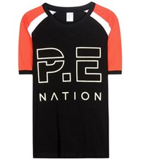 P.E Nation One Time Raglan Cotton T Shirt Black