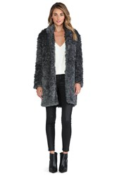 Charles Henry Faux Fur Cocoon Coat Gray