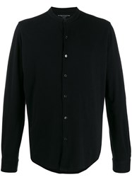 Majestic Filatures Crew Neck Button Down Cardigan Black