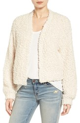 Hinge Women's Open Crop Fuzzy Cardigan