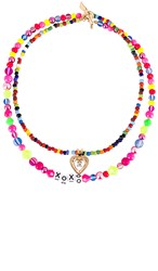 Vanessa Mooney The All That Necklace In Pink. Multi