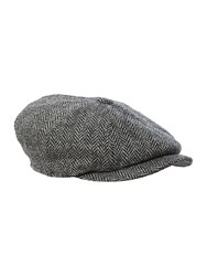 Failsworth Harris Tweed Baker Boy Hat Grey