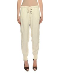 Tom Ford Drawstring Side Zip Slouchy Track Pants Cream