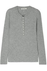 Alex Mill Ribbed Wool Blend Top Gray