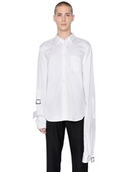 Comme Des Garcons Cotton Poplin Shirt W Belted Cuffs