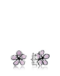 Pandora Design Pandora Earrings Cherry Blossom Enamel