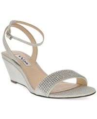 Nina Noely Mid Wedge Evening Sandals Women's Shoes