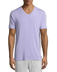 Psycho Bunny Luxe V Neck Tagless Jersey Lounge Tee Lavender