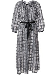 Huishan Zhang Belted Embellished Check Gown 60