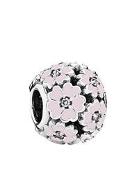 Pandora Design Pandora Charm Sterling Silver And Enamel Primrose Meadow Moments Collection Pink