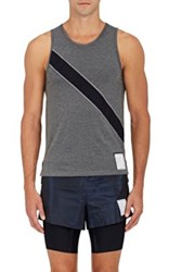 Satisfy Men's Singlet Appliqued Tank Dark Grey